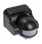 Датчик движения ДД 009 черный, до 1100 Вт, дальн.12м IP44
