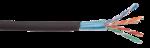 F/UTP (24 AWG) категории 5Е экран 4 пары LDPE внеш.черный ITK